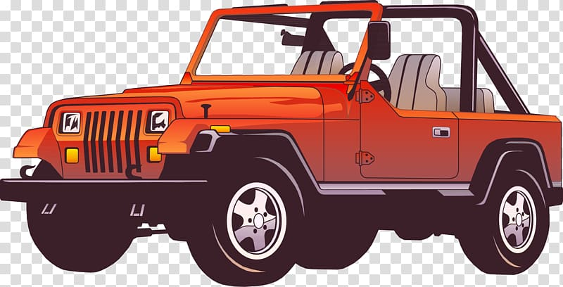 Silver jeep clipart graphic free download Orange Jeep Wrangler illustration, Jeep Wrangler Car Force ... graphic free download