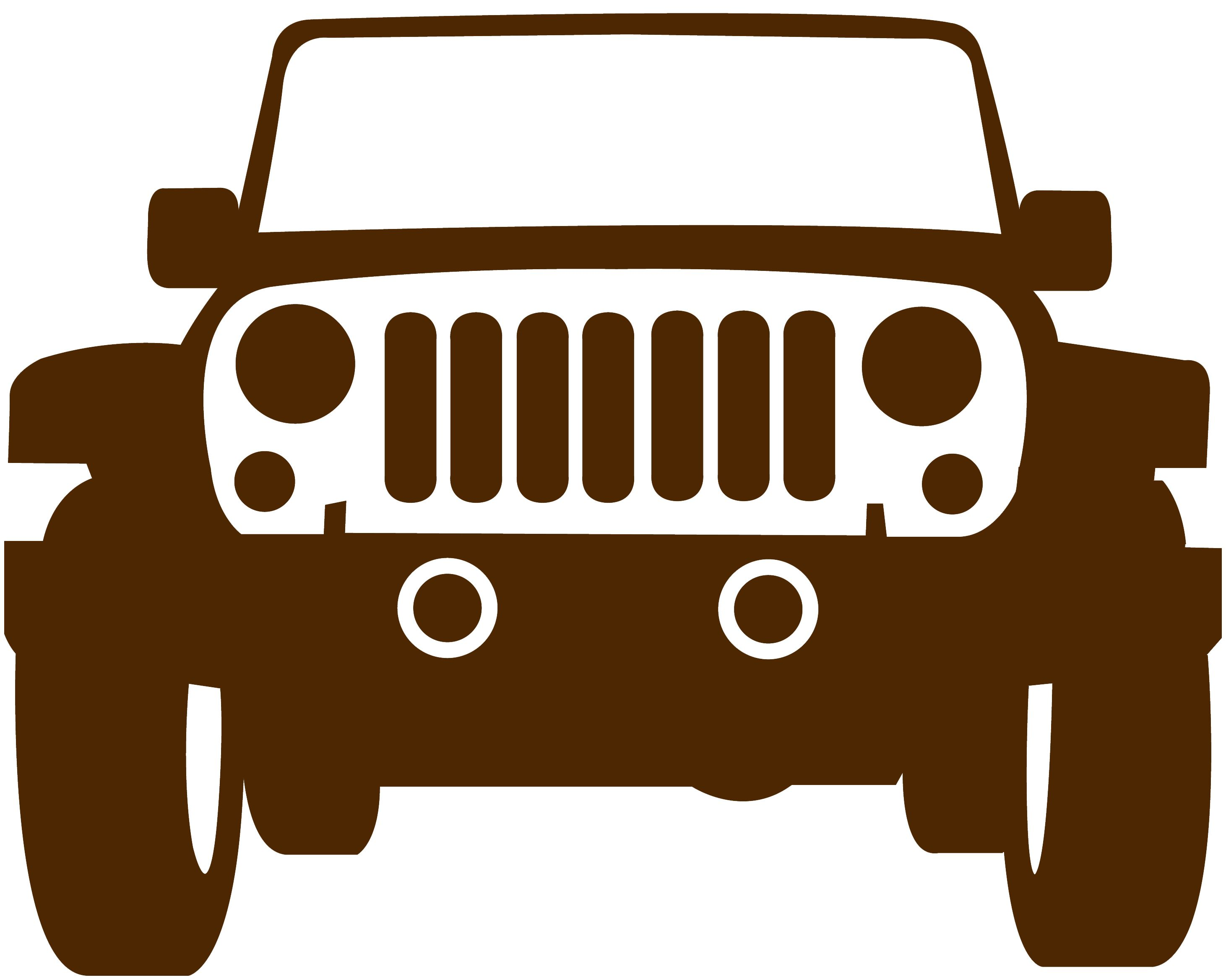 Silver jeep clipart clip art royalty free stock Muursticker Jeep, 2 formaten, 22 kleuren | Silhouettes ... clip art royalty free stock
