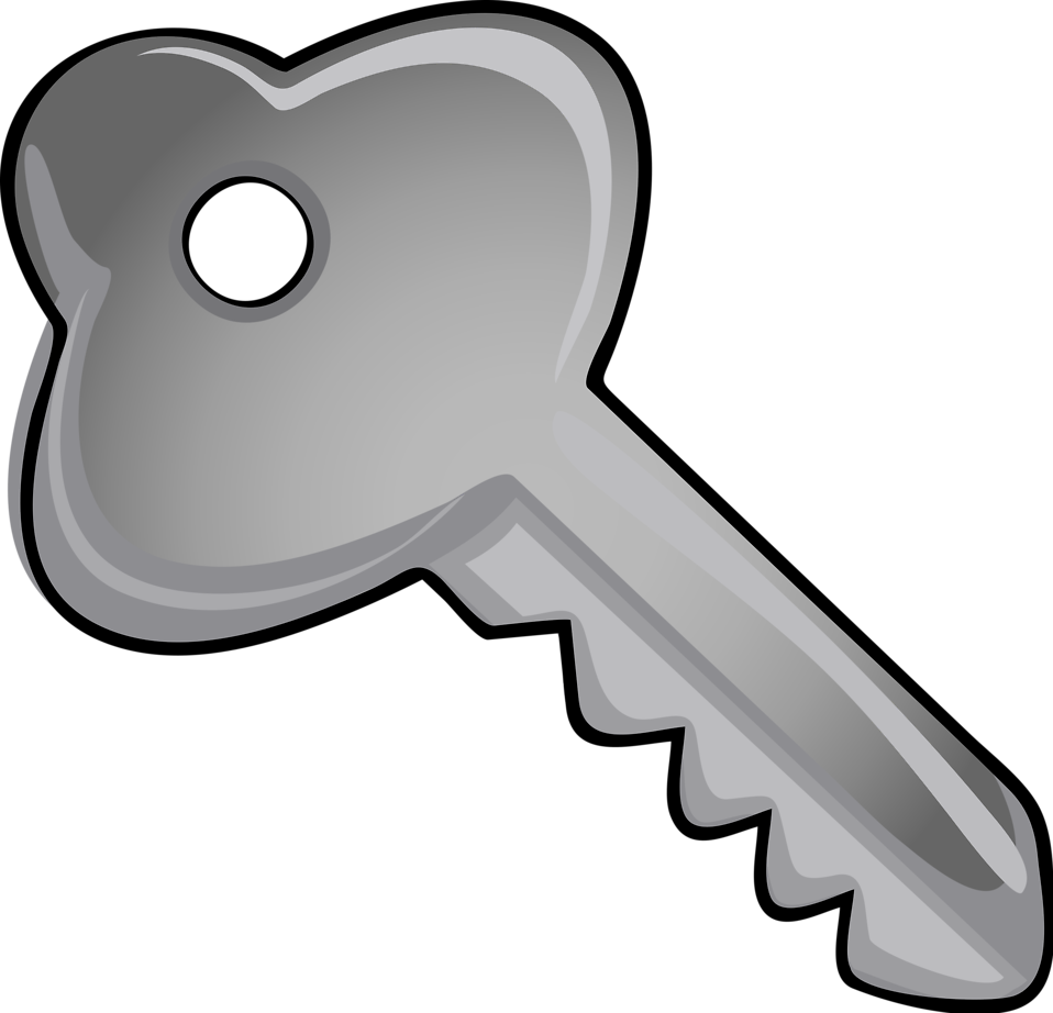 Silver key clipart with light blue background jpg black and white download Collection of Key clipart | Free download best Key clipart ... jpg black and white download