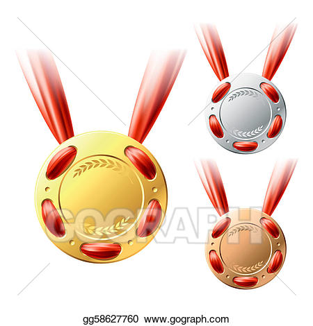 Silver pride clipart graphic freeuse download Vector Art - Gold, silver and bronze medals . Clipart ... graphic freeuse download