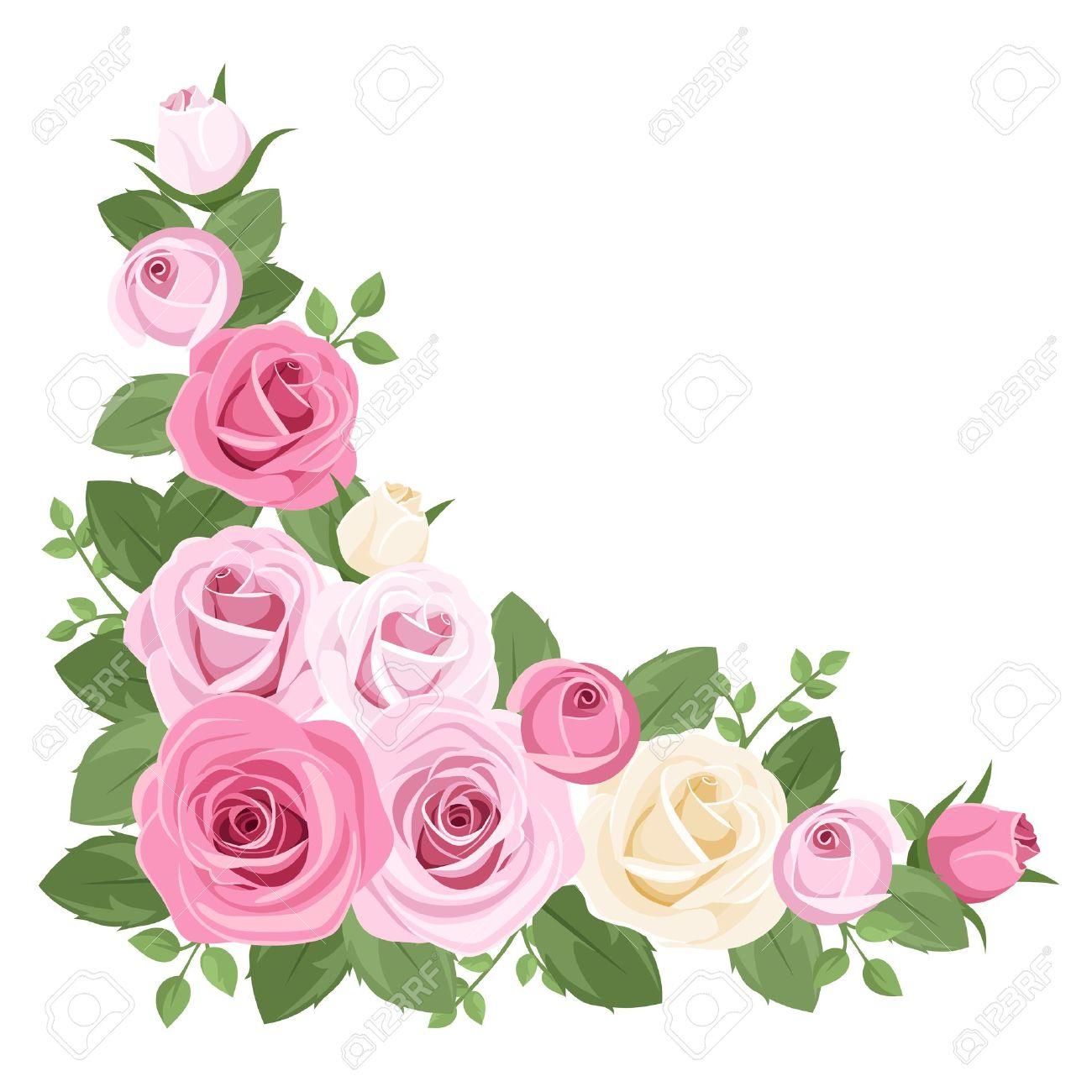 Silver rose corner border with cross clipart svg download White Rose Border   Free download best White Rose Border on ... svg download