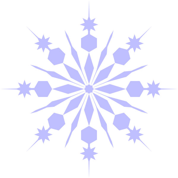 Snowflake cloud clipart svg library library Snowflake Clip Art at Clker.com - vector clip art online, royalty ... svg library library