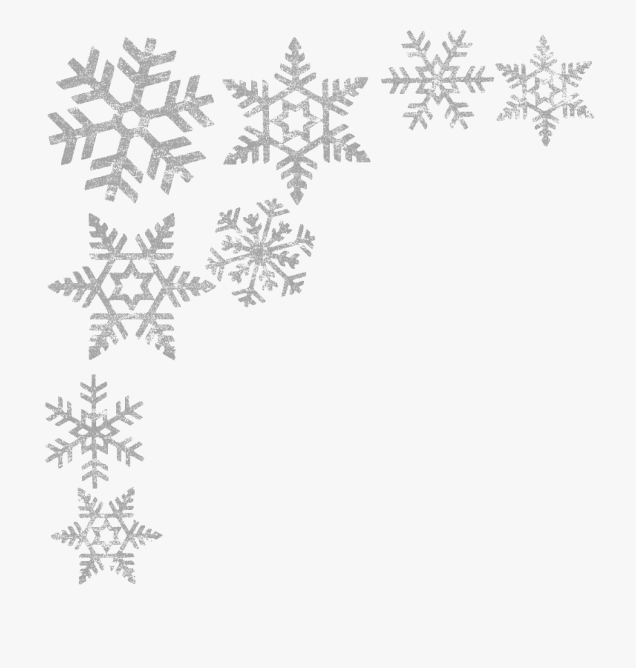 Silver snowflakes clipart vector free Image Royalty Free Library Silver Snowflake Clipart ... vector free