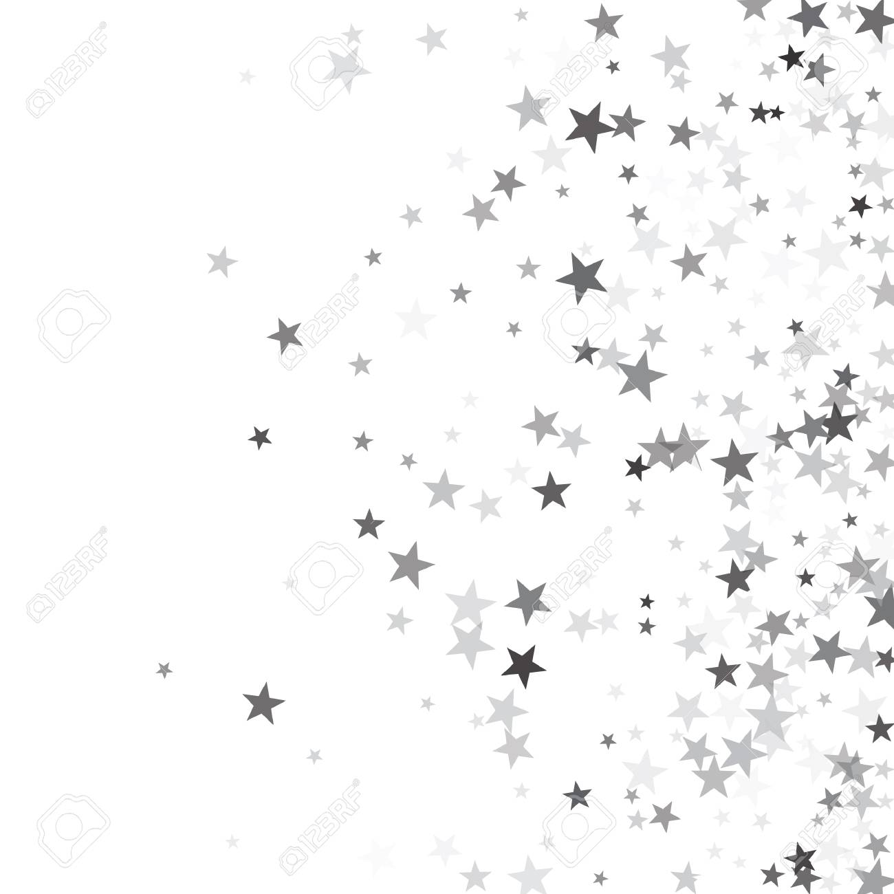Silver sparkles clipart free stock Luxurious silver glitter falling stars vector template for ... free stock