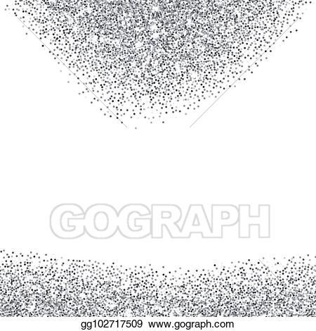 Silver sparkles clipart jpg freeuse Vector Clipart - Silver glitter textured borders. Vector ... jpg freeuse