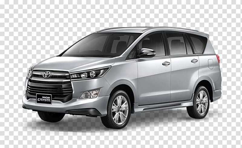 Silver suv car clipart png transparent Silver Toyota Innova Crysta SUV, Toyota Fortuner Car Minivan ... png transparent
