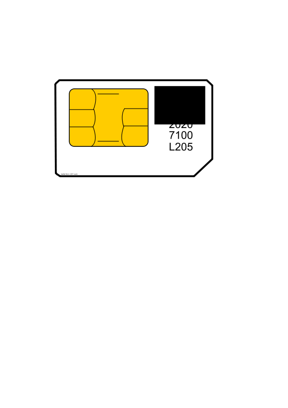 Sim cards clipart vector royalty free library Free Clipart: Sim card | baditaflorin vector royalty free library