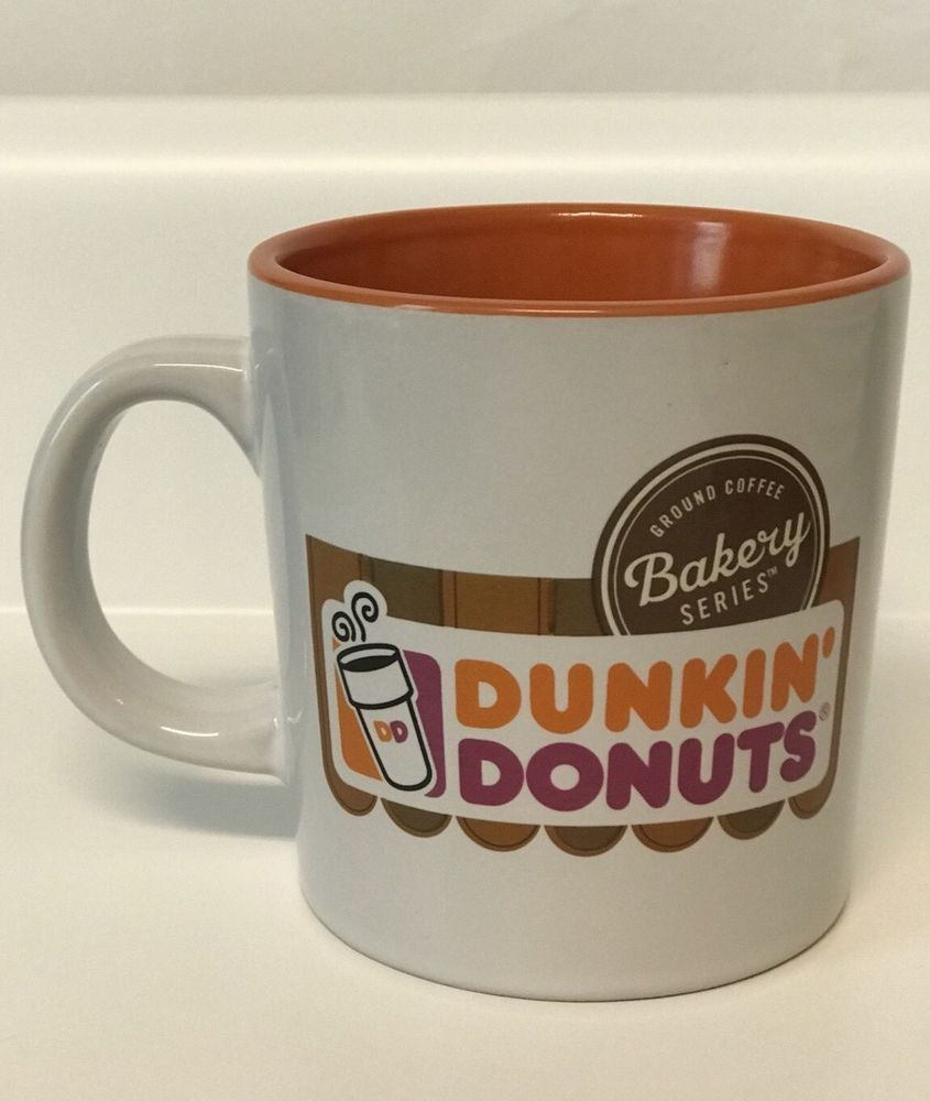Simmering coffee mug clipart outline clip art freeuse library Dunkin Donuts Coffee Mug Orange White | eBay | Cup of Java ... clip art freeuse library