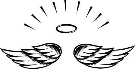 Simple angel wings clipart banner black and white Simple angel wings template angel wing transparent clip art ... banner black and white