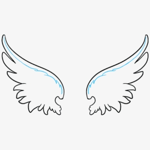Simple angel wings clipart royalty free library How To Draw Angel Wings In A - Angel Wing Simple Drawing ... royalty free library