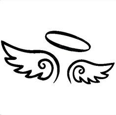 Simple angel wings clipart jpg freeuse stock easy to draw angel wings halo - Google Search | Tattoos ... jpg freeuse stock