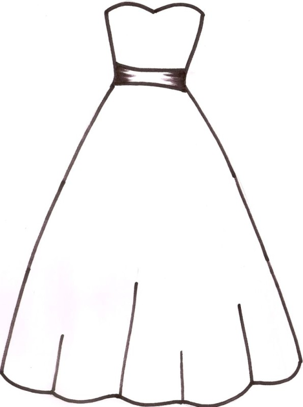 Simple black and white girls clothing clipart png freeuse stock Dress Clipart Black And White | Free download best Dress ... png freeuse stock