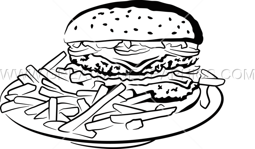 Simple burger and fries black and white clipart svg transparent library Burger clipart black and white clipart images gallery for ... svg transparent library