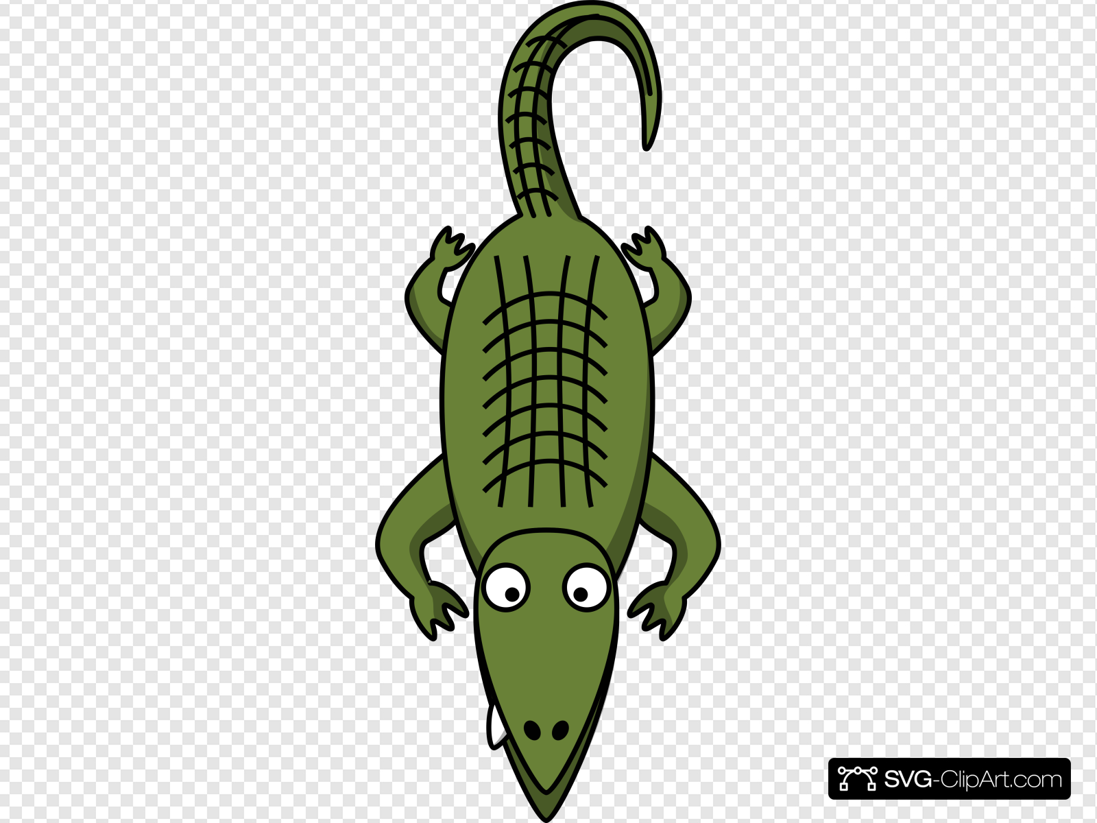Simple cartoon clipart picture transparent library Simple Cartoon Alligator Clip art, Icon and SVG - SVG Clipart picture transparent library