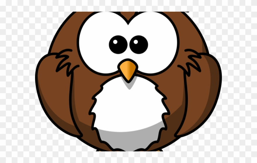 Simple cartoon clipart black and white Snowy Owl Clipart Simple - Cartoon Owl - Png Download ... black and white