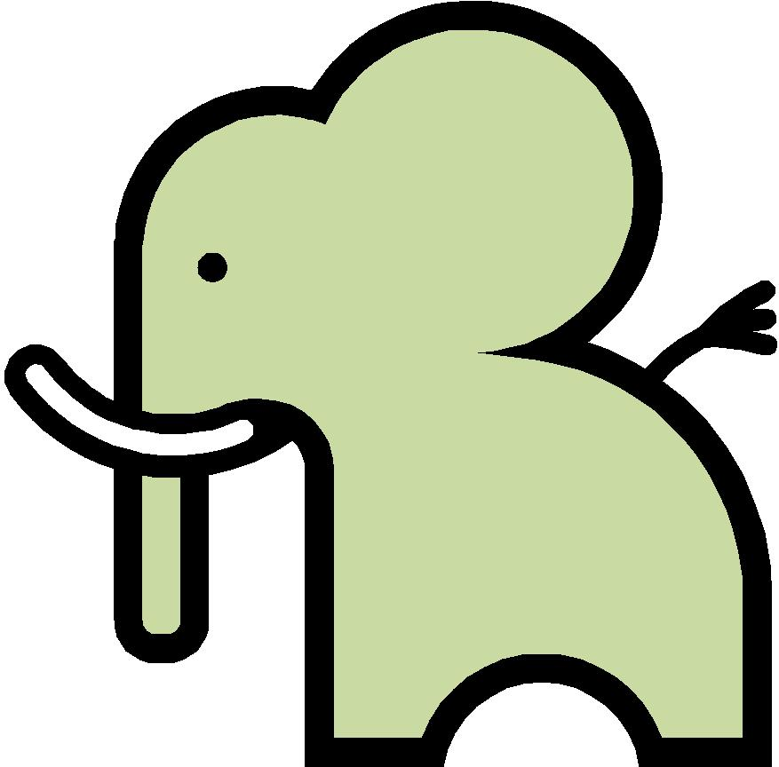 Simple cartoon clipart svg library library Free Simple Cartoon Elephant, Download Free Clip Art, Free ... svg library library