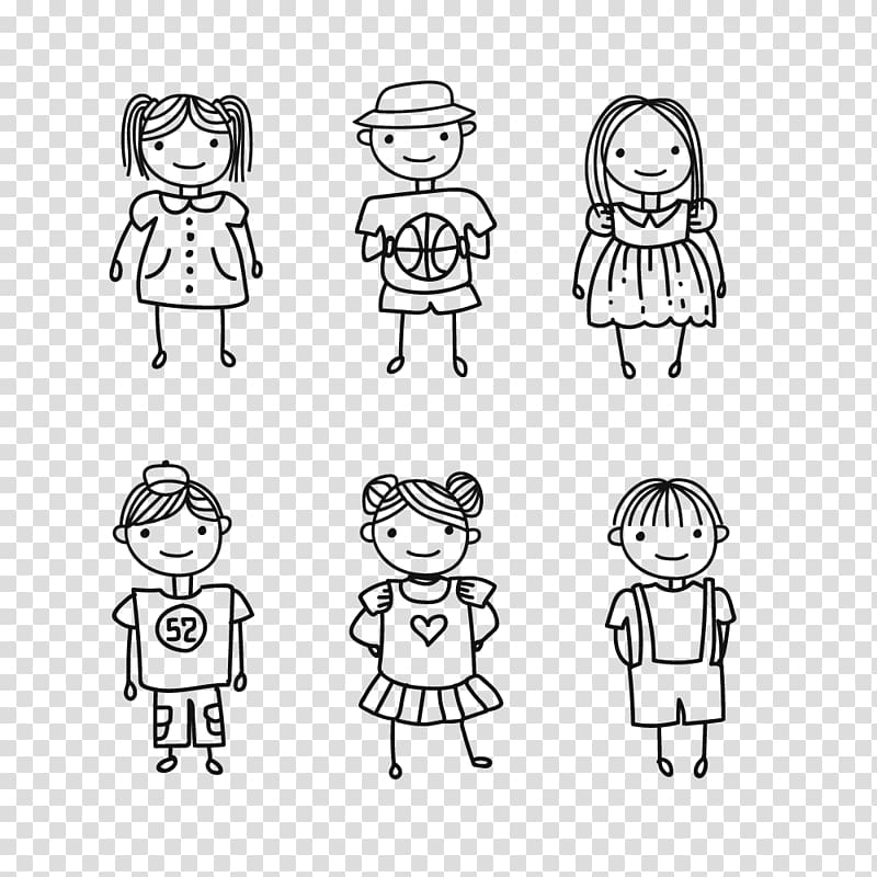 Simple child clipart vector free download Euclidean Drawing Illustration, Simple children Simple pen ... vector free download