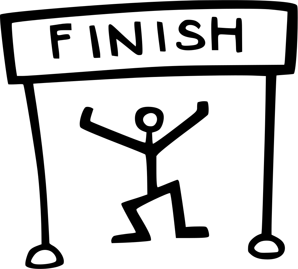 Simple clipart finish line download Finish Line Icon #281683 - Free Icons Library download