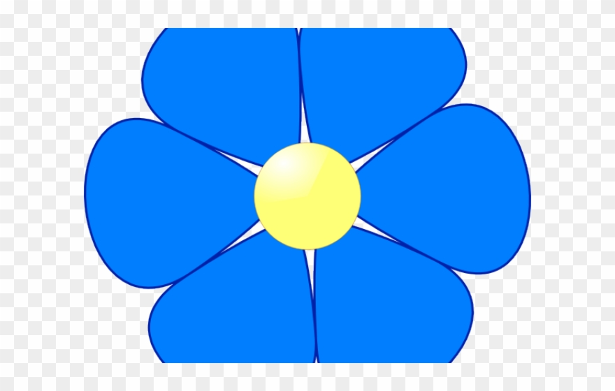 Simple clipart flowers png royalty free Blue Flower Clipart Simple - Flowers Clipart Color - Png ... png royalty free