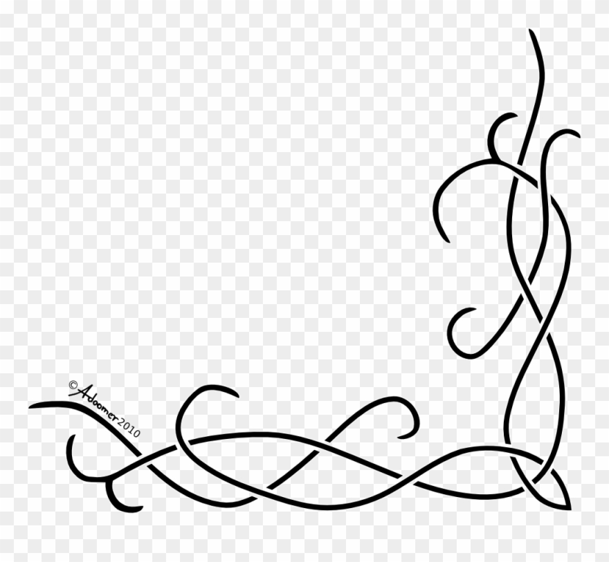 Simple clipart line designs svg black and white Corner Celtic Knot Pattern - Simple Border Design Drawing ... svg black and white