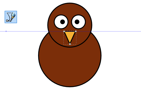 Simple clipart turkey jpg library How to Draw a Cartoon Turkey | GoInkscape! jpg library
