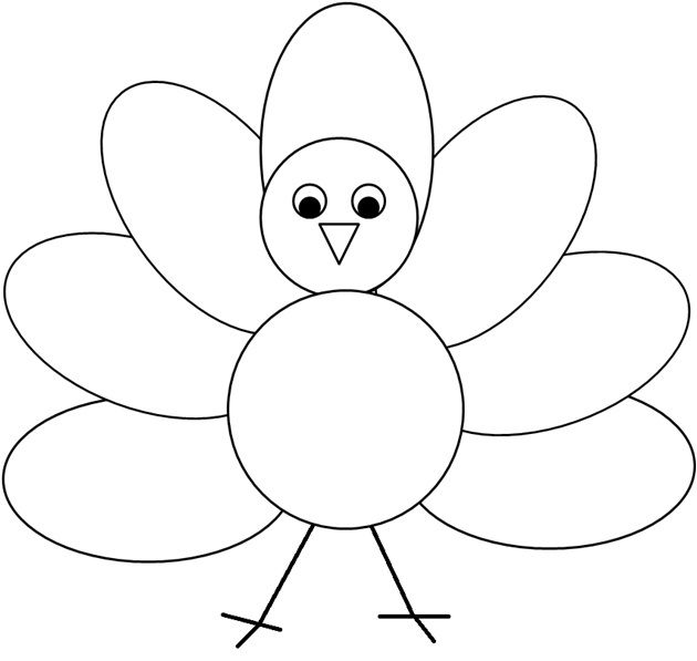 Simple clipart turkey jpg black and white download Coloring Or Decorating The Simple Turkey Clipart I Created ... jpg black and white download