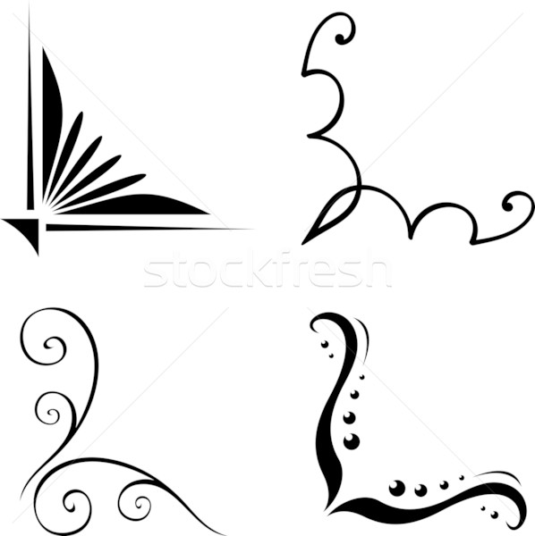Simple corner clipart banner black and white Simple Corner Border Design Clipart | Free download best ... banner black and white