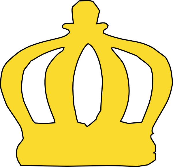 Black and white princess crown clipart vector library download Cartoon Crown Clip Art at Clker.com - vector clip art online ... vector library download
