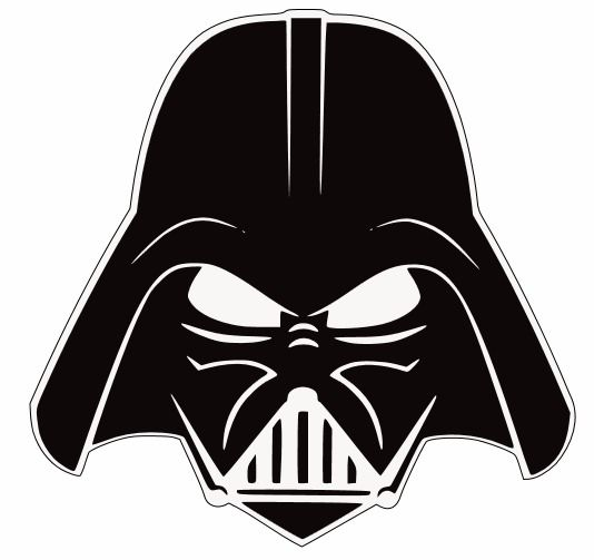 Simple darth vader clipart black and white vector transparent stock Darth Vader Head Silhouette Darth vader stencil i got ... vector transparent stock