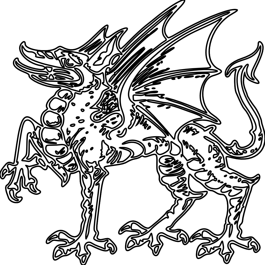 Simple dragon clipart coloring book transparent download Chinese Dragon Clipart Black And White. Chinese Dragon Black And ... transparent download