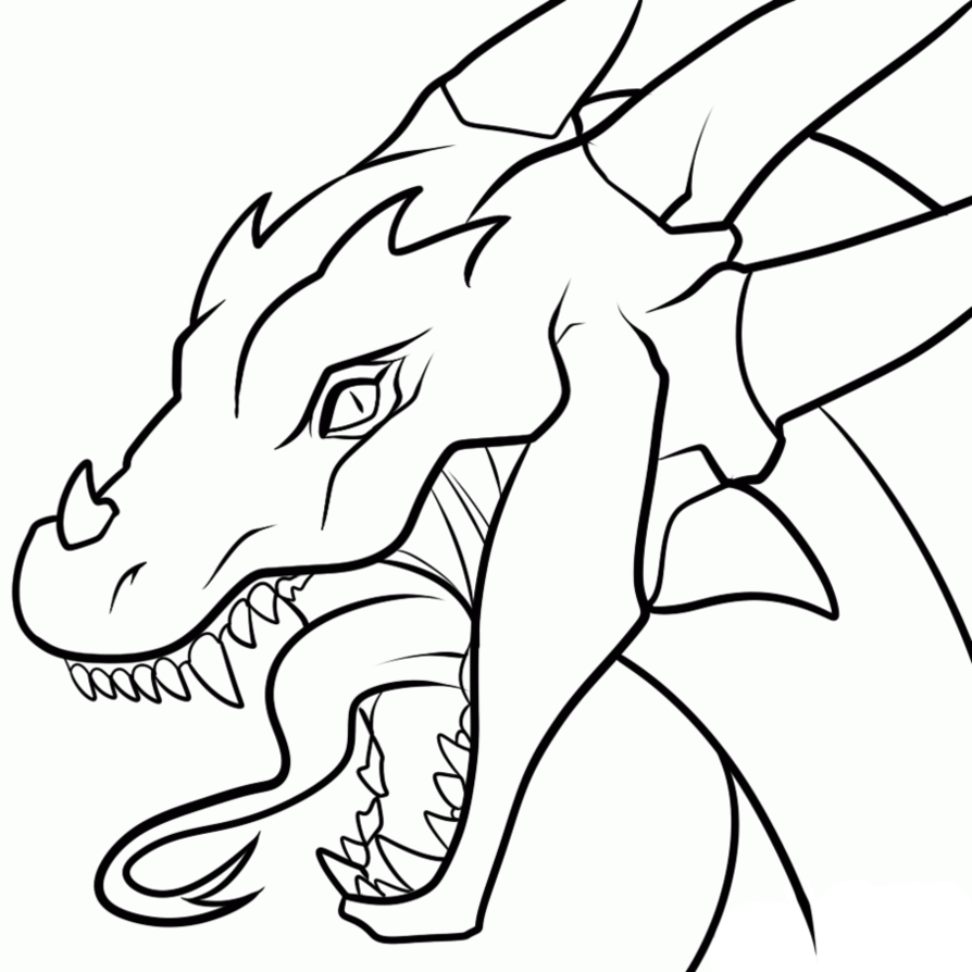 Simple dragon clipart coloring book clipart library download Dragon Outline Drawing at GetDrawings.com | Free for personal use ... clipart library download