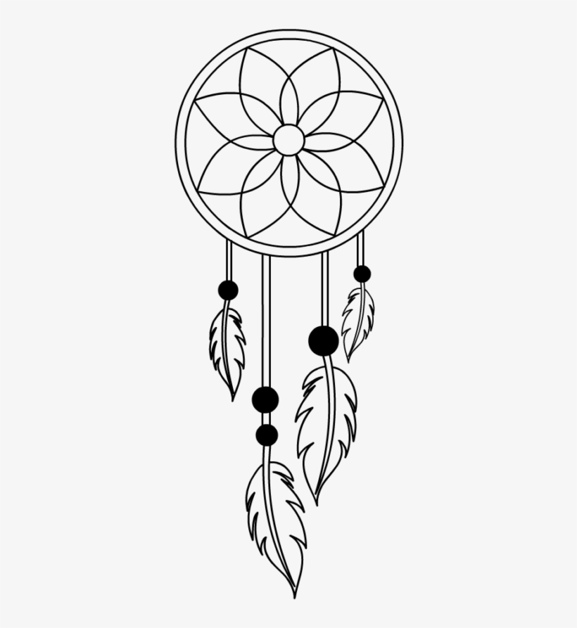 Simple dream catcher clipart black and white vector library Dreamcatcher Dream Catcher Free Svg Cut File Download ... vector library