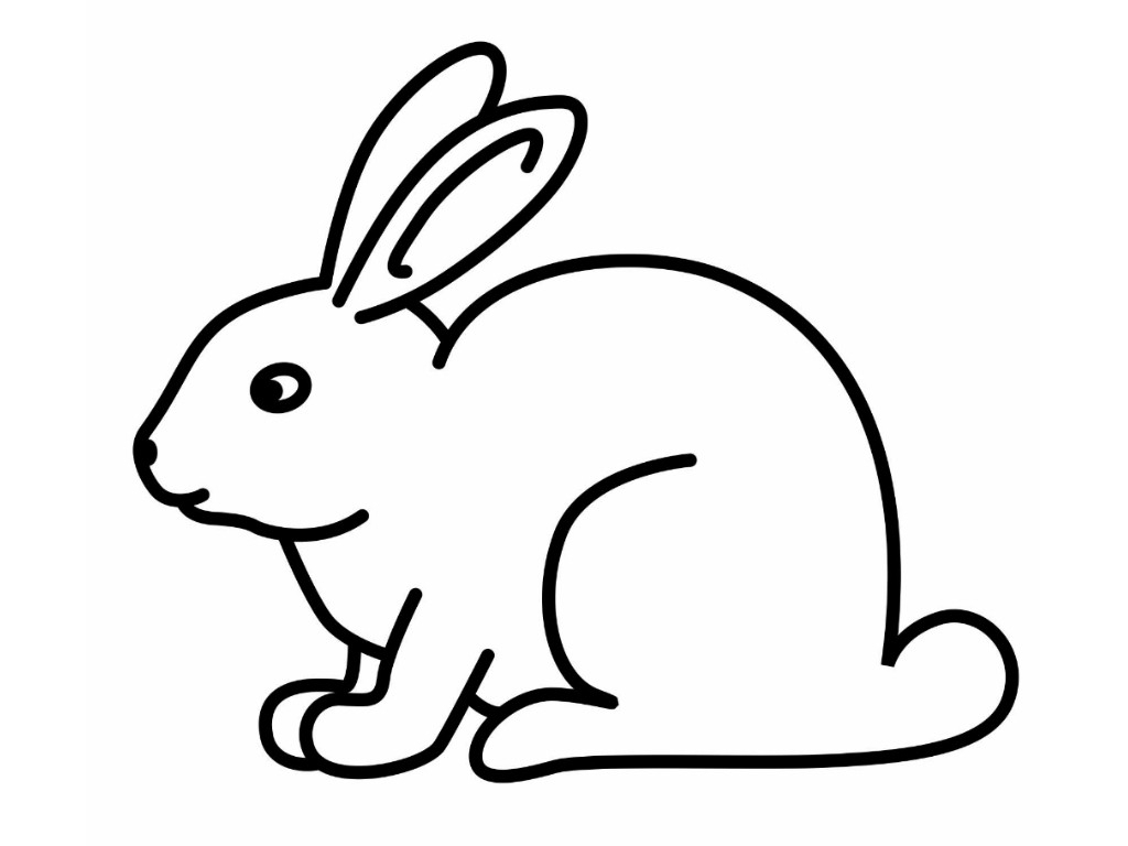 Simple easter bunny clipart jpg freeuse Simple Easter Bunny Drawing | Free download best Simple ... jpg freeuse