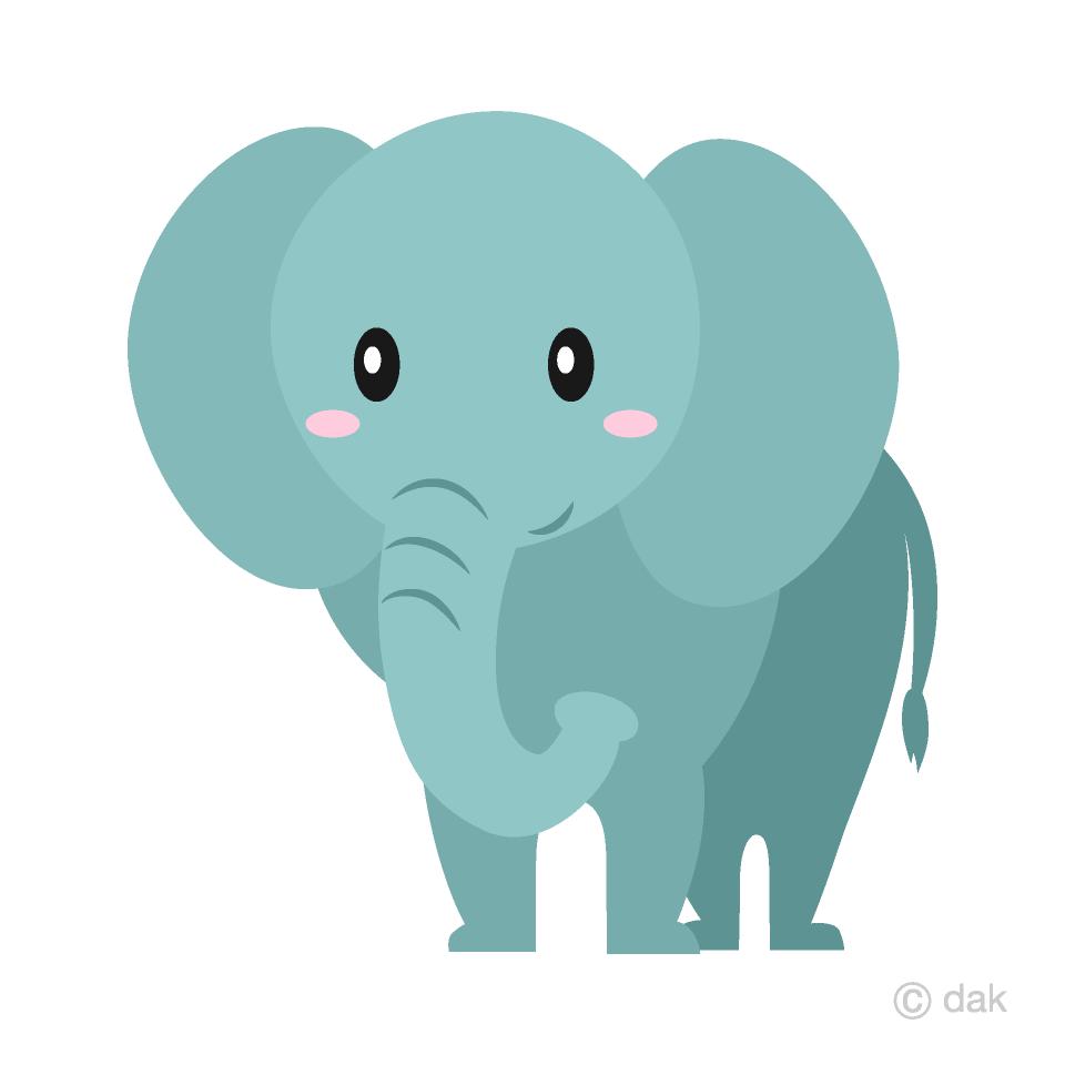 Simple elephant clipart jpg freeuse Simple Elephant Clipart Free Picture|Illustoon jpg freeuse