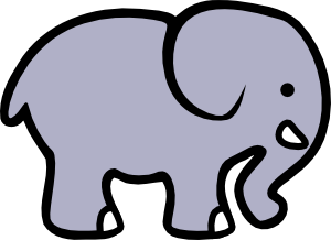 Simple elephant clipart clip royalty free stock Cartoon Elephant 2 Clip Art at Clker.com - vector clip art ... clip royalty free stock