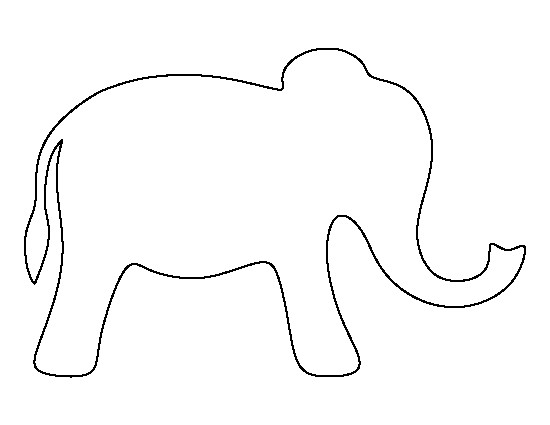 Simple elephant clipart png free library Simple Elephant Outline | salaharness.org png free library