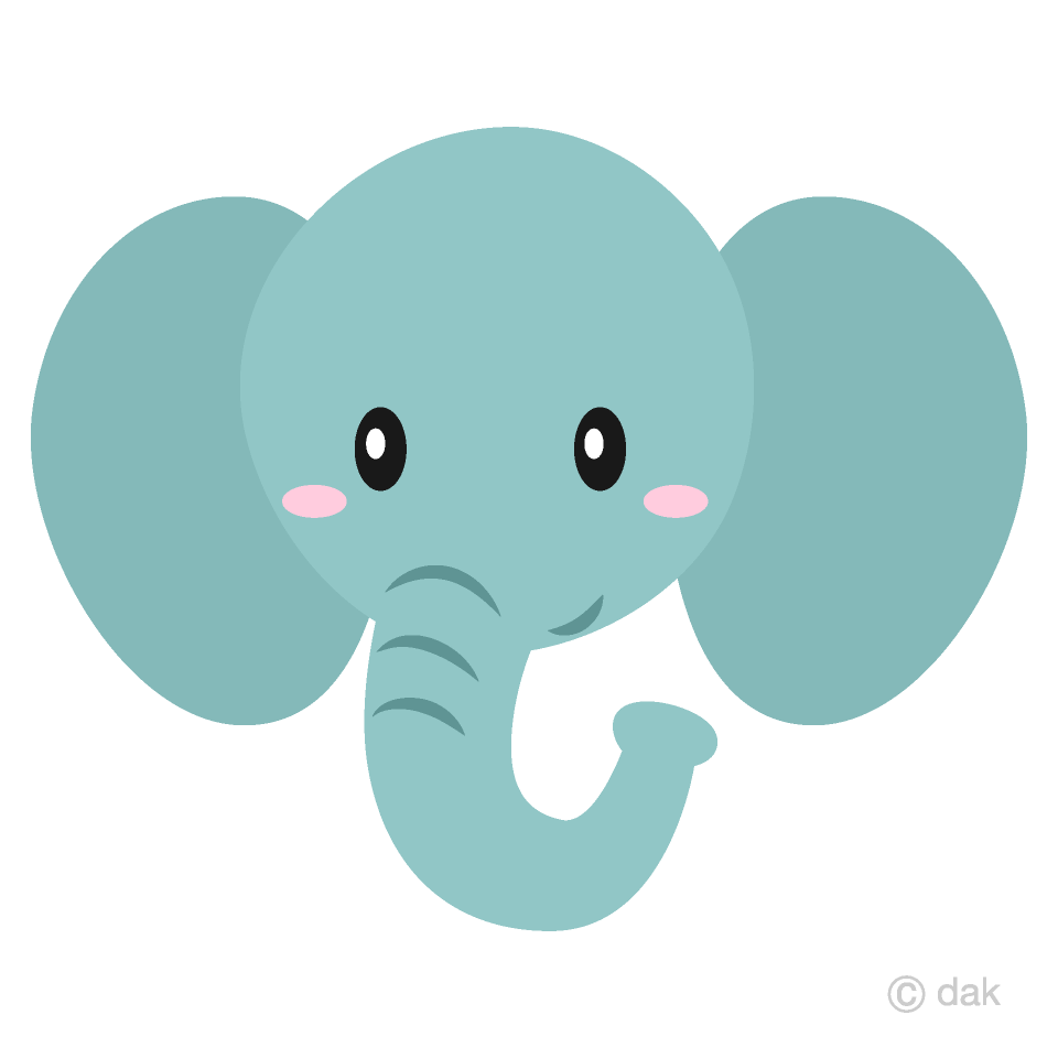 Simple elephant clipart graphic free download Simple Elephant Face Clipart Free Picture|Illustoon graphic free download