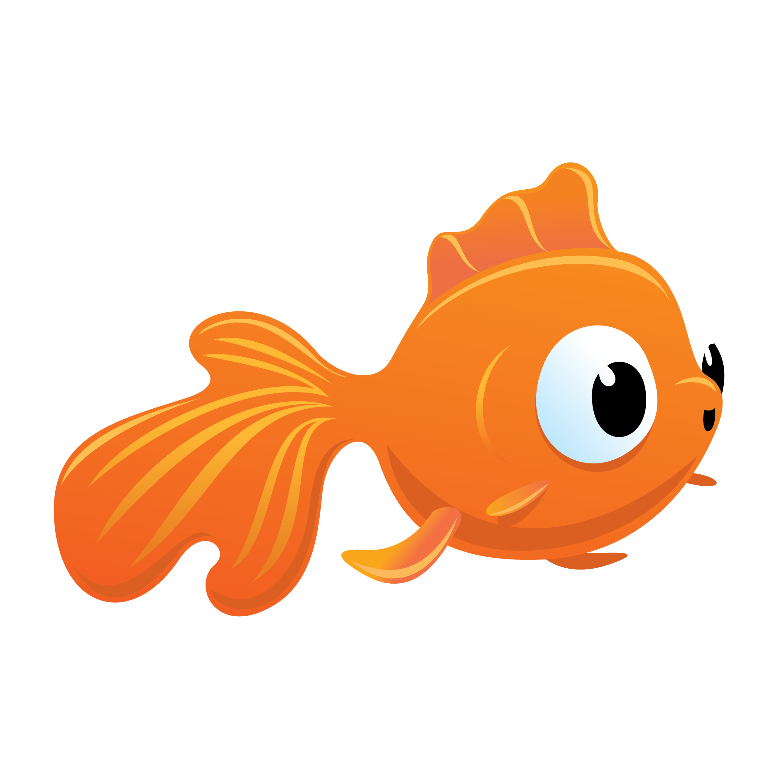 Simple fish gold fish cracker clipart graphic black and white 28+ Collection of Goldfish Clipart Png | High quality, free cliparts ... graphic black and white