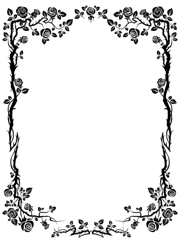 Simple flower border clipart clip art transparent library Png Flower Border Black. Awesome Png Vector Format With Png Flower ... clip art transparent library