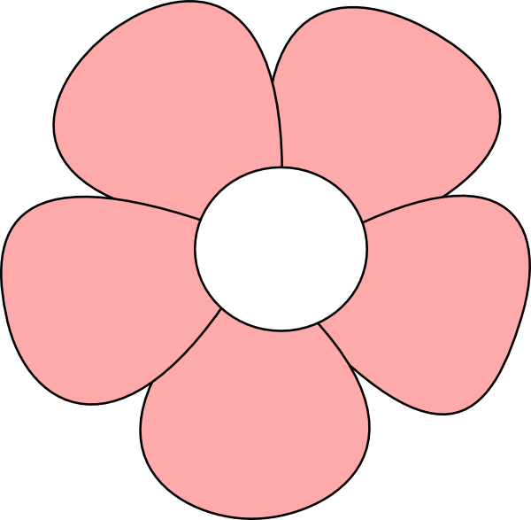 Simple flower clipart jpg library download Simple Flower Pink Clip Art at Clker.com - vector clip art online ... jpg library download