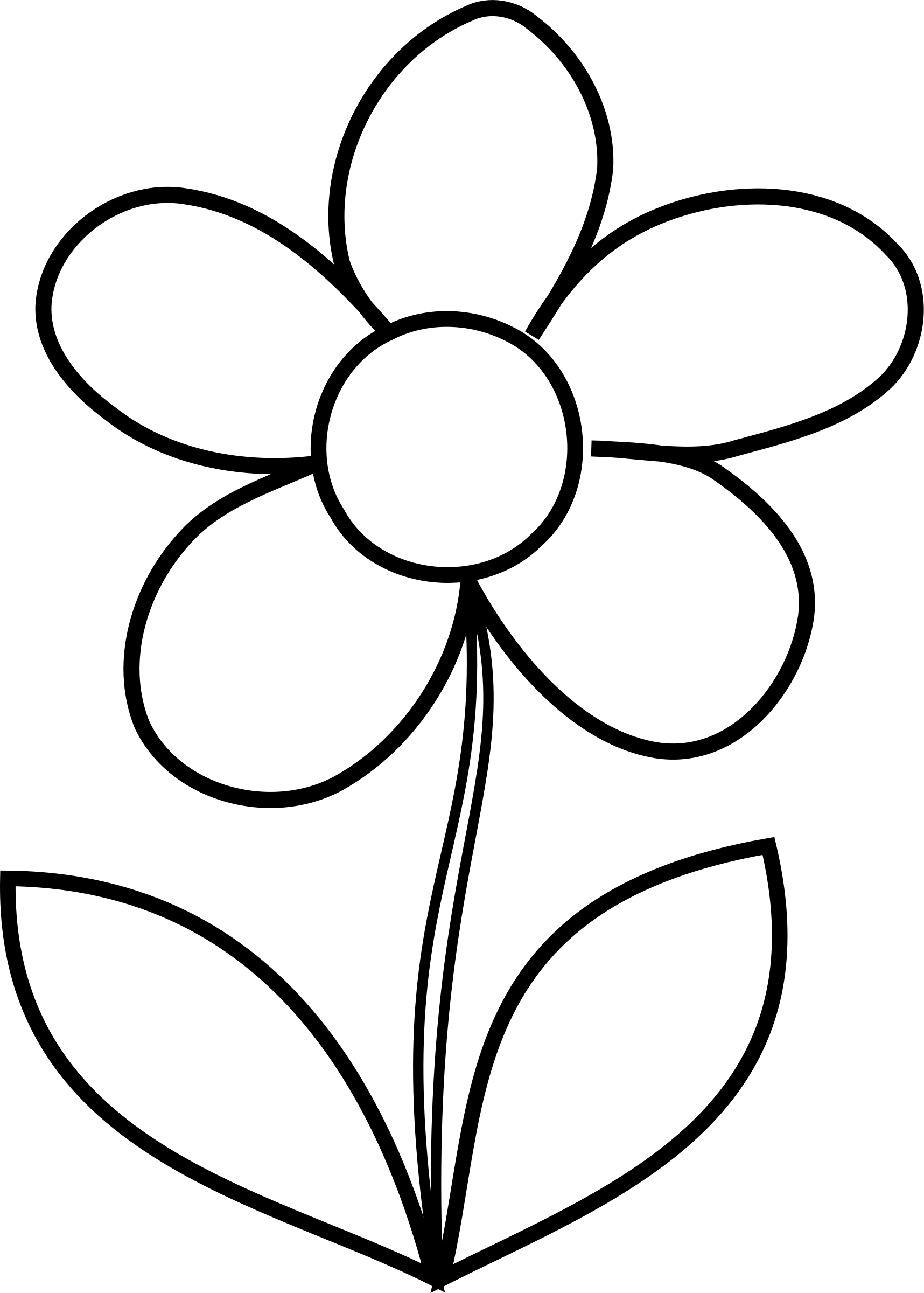 Simple flower clipart image library library Clipart - Simple Flower bw image library library