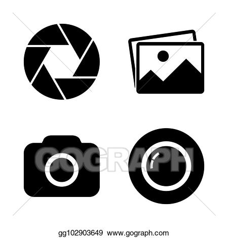 Simple focus clipart clipart royalty free stock Vector Art - Foto camera icon set. Clipart Drawing ... clipart royalty free stock