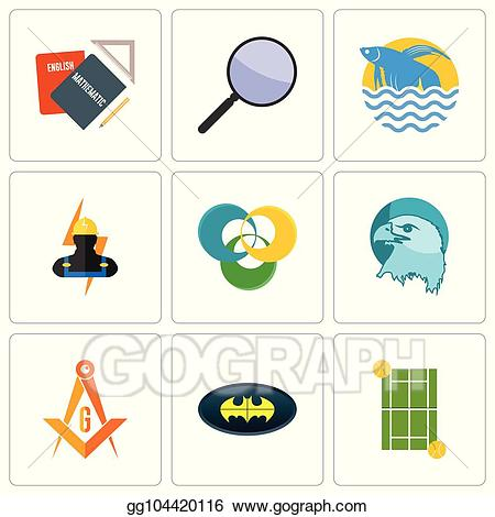 Simple focus clipart clip art stock EPS Illustration - Set of 9 simple editable icons such as ... clip art stock
