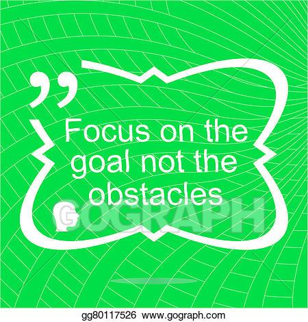 Simple focus clipart clip art freeuse stock Stock Illustration - Inspirational motivational quote. focus ... clip art freeuse stock