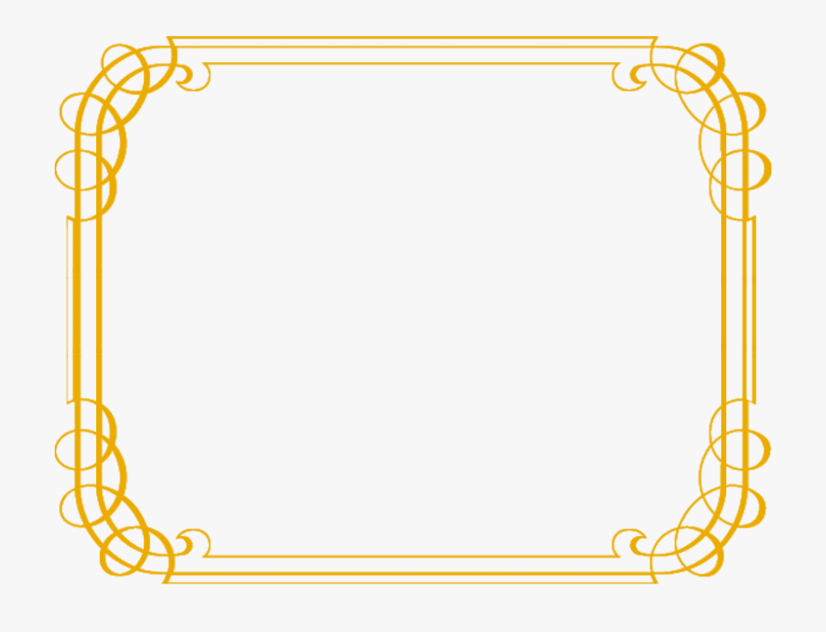 Simple gold border clipart jpg royalty free download Fancy Gold Border Png - Simple Golden Border #982436 - Free ... jpg royalty free download