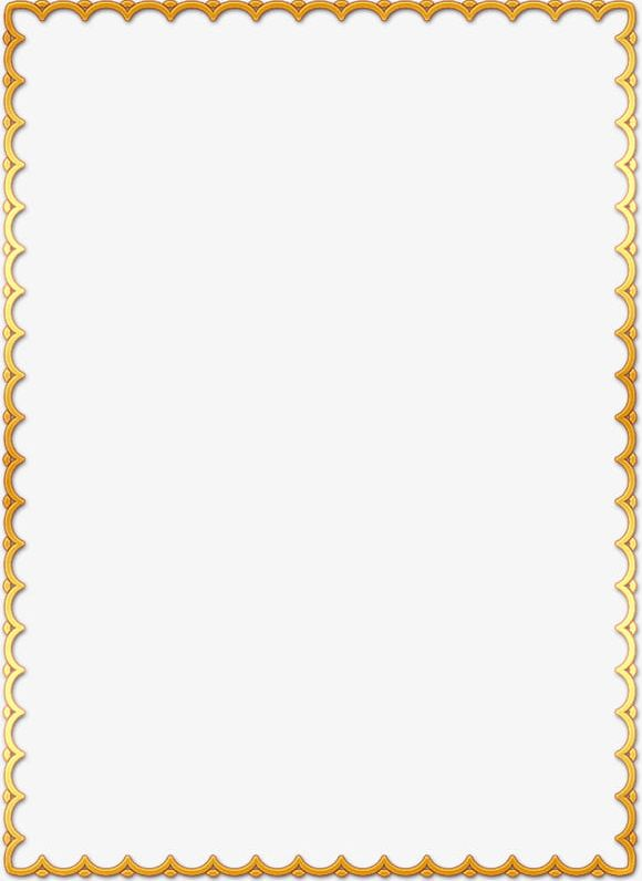 Simple gold border clipart svg transparent download Simple Border PNG, Clipart, Border Clipart, Decoration ... svg transparent download