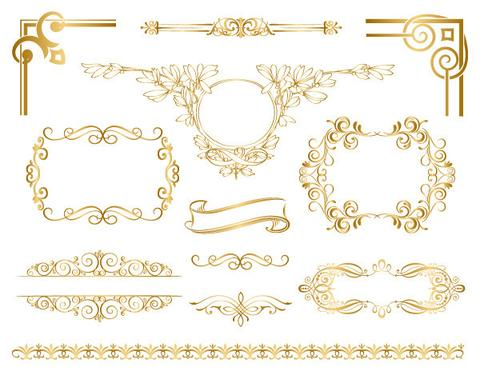 Simple gold border clipart image free The Ultimate Gold Border Clipart Ideas Guide – Digital Paper ... image free