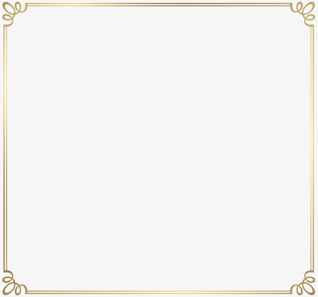 Simple gold border clipart clip free Simple Gold French Pattern Border PNG, Clipart, Art, Art ... clip free