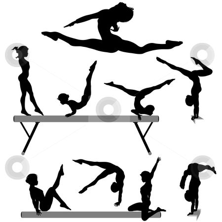 Simple gymnast clipart jpg stock Free Printable Gymnastic Silhouettes | To use this stock ... jpg stock