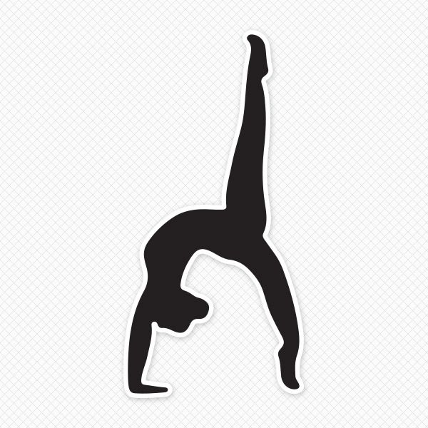 Simple gymnast clipart picture freeuse stock Solid Black Gymnast Restickable Wall Graphic | Gymnastics ... picture freeuse stock